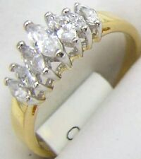 14K GOLD EP 3.0CT DIAMOND SIMULATED MARQUISE RING sizes 5-10 u choose the size