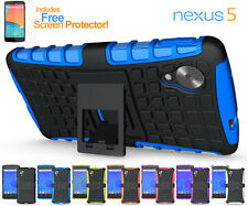 Heavy Duty Anti-Shock Protective Cover Case with Kick-Stand LG Google Nexus 5