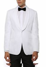 White Shawl Colar One Button Blazer Jacket for Men Snow white SLIM Ferrecci