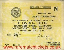 REPRODUCTION REAL MADRID EUROPEAN CUP/CHAMPIONS LGE SUPERCUP CWC FINAL TICKET