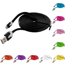 HOT 6Ft/2M Flat Noodle USB Charger Sync Data Cable Cord for iPhone 4 4S 4G
