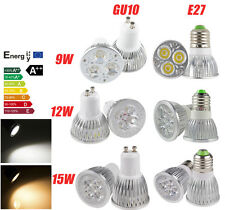 MR16 GU10 E27 E26 9W 12W 15W GU5.3 LED Spotlight Lamp Warm Cool White Bulb Light