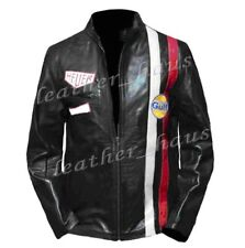 Steve McQueen Stylish Genuine Leather Gulf Biker/Motorcycle Jacket #510