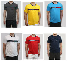 2015 New Tommy Hilfiger Men Classic Fit Crew Neck Logo Tee Shirt T-Shirt