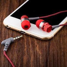 3.5mm In Ear Headset Headphone Super Bass Earphone With Mic For Cell Phone