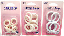 White Plastic Curtain Rings Plastic Rings Tie Back Rings 15mm 19mm 25mm Rings