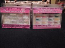 CINAPRO PROFESSIONAL PEARL or SHELL & GLITTER COMBO DECORATION NAIL ART KITS