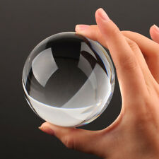 Vintage 40-90mm Clear Crystal Half Sphere Ball Paperweight MAGNIFYING Glass