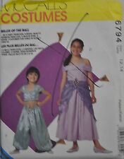 McCall's Sewing Pattern # 6794 Childs Costume Bride, Princess, Genie Choose Size