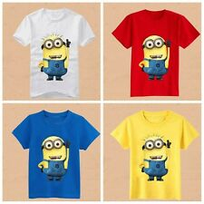 Minions Boys Girls T-shirt Despicable Me Children's Clothing Wear Kids Apparel