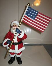 "Possible Dreams Clothtique Santa "" God Bless America "" 713509 Retired 2003"