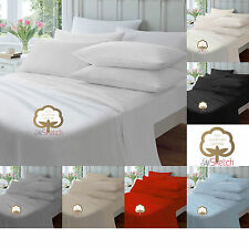 Luxury 100% Egyptian Cotton Fitted Sheets 23CM Single Double King Super King!