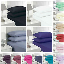 """Non Iron Percale Fitted Sheets 23CM Single Double King Super King """"Top Quality"""""""