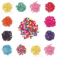 Wholesale Lots 1000pcs Wood Seed Loose Beads Loose Spacer Beads 5.5x3mm 10Colors