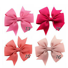 Cute Hair Bows Boutique Girls Kids Alligator Clip Grosgrain Ribbon Headband LOT