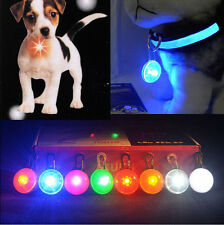 Colors Fabulous Pet Dog Puppy LED Flashing Collar Safety Night Light Pendant New
