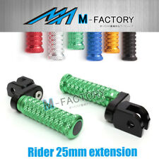 M-Grip Billet 25mm Rider Extended Foot Pegs Fit Yamaha YZF R3 2015 15