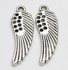 10/20Pcs Tibet Silver Wing Charm Pendant Beaded Jewelry Making Earring 26X8MM