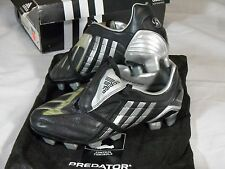New Womens Adidas Predator P Powerswerve TRX FG W Soccer Cleats Black Silver Bag