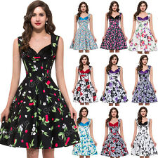 Grace Karin Rockabilly Vintage Retro Floral 50s 60s Swing Housewife Pin Up Dress