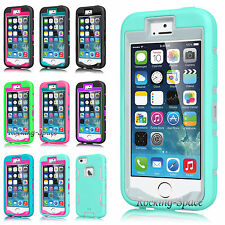 Rugged Rubber Protective Hard Matte Case Cover For iPhone 5 5S w/ Screen Protect