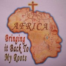 Religious T Shirt Africa Bringing It Back To My Roots Jesus God Bible Christian