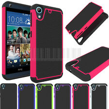 Rugged Hybrid Armor Hard Protective Case Impact Cover For HTC Desire 626 626S