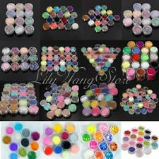 12/18/24 Colours Glitter Powder Dust Nail Art Tips Acrylic UV Gel Decoration Set