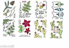 Sheena Douglass FESTIVE FANCIES A6 Unmounted Rubber Stamps REDUCED *
