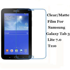 """Clear/Matte Screen Protector Guard Lot For Samsung Galaxy Tab 3 Lite 7.0 7"""" T110"""