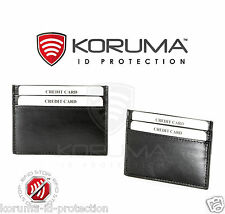 RFID Blocking Genuine Leather Protector Mini Wallet Contactless Credit Card