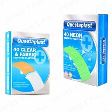 Clear+Fabric or Neon Plasters +SMALL-LARGE+ First Aid Kit Home/Office/Work Pack