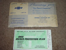 1966 Corvette / Chevrolet Owner Protection Plan Booklet From a True Impala SS