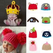 Baby Boys Girls Animal Floral Beanie Crochet Knitted Hat Photography Prop Cap