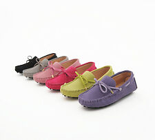 Fashion Womens casual Driving gommino Moccasins suede slip on Loafer boats Shoes