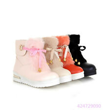 Casual Womens Ladies Mid Calf Boots Platform Wedge Shoes Boots AU All Size Y1260