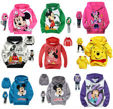 Kids Boys Girls Hooded Jacket Jumper Outwear Ages 2-8 years