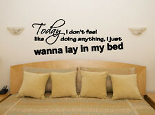 Lazy Song - Today I Don't - Bruno Mars Song Lyrics Decal Wall Sticker Picture
