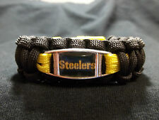 Pittsburgh Steelers CUSTOM Paracord Survival Bracelet with Buckle NFL Football