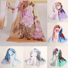 Fashion Women Lady Neck Scarf Shawl Wrap Scarves Stylish Soft Silk Chiffon Voile