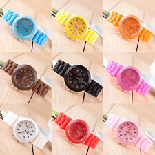 Unisex Silicone Rubber Jelly Gel Quartz Analog Sports Women Girls Wrist Watch