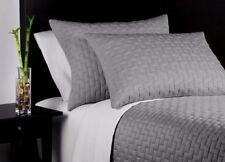 $570 Home Environment 3PC Bamboo Quilt Coverlet Shams Set Queen King Gray
