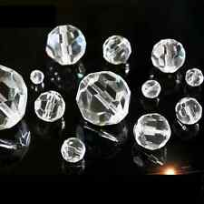 4MM 6MM 8MM 10MM 12MM 14MM Clear Czech Glass Faceted Round Ball Spacer Beads