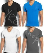 New Calvin Klein T-Shirt Men Micro Modal Short-Sleeve V Neck Tee CK Black U5563