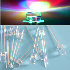 RGB 5mm Round Green Red Blue Rainbow Fast & Slow Flash LED Lamp Diode