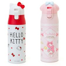 JAPAN HELLO KITTY MY MELODY HEAD SHAPE 360ML STAINLESS STEEL VACUUM BOTTLE