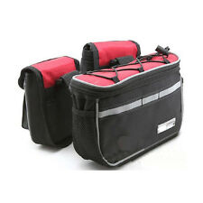 4 IN1 Cycling Bike Bicycle Front Frame Tube Bag Pannier Pouch+Rain Cover 3 Color