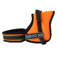 Reflective Service Dog Vest Harness with 2 Velcro Patches THERAPY TRAINING