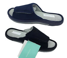 Mens Slippers Grosby Hugh Black or Navy Summer Slipper Scuffs Size S - XL