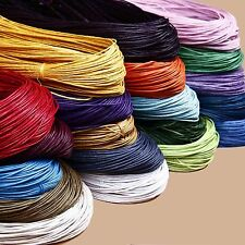 5/20yds 3mm Pure Hand-Woven Leather Cord Necklace Bracelet Jewelry Making DIY